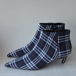 NEW Zara Plaid Ankle Boots Size 6.5 & 9.5
